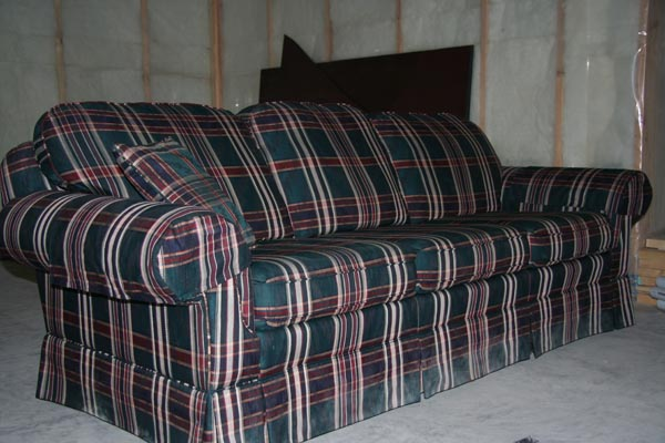 Image Gallery Plaid Couch